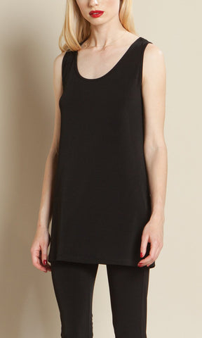 CLARA SUNWOO Long Scoop Tank - Solid / 4 COLORS