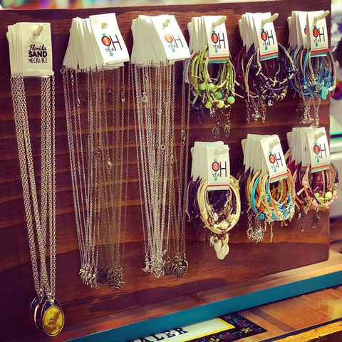 O Yeah Gifts bracelets and necklaces now at Salty Dog Surf Shop