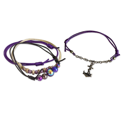 Anchor Bracelets - 4 Piece Set - O Yeah Gifts!