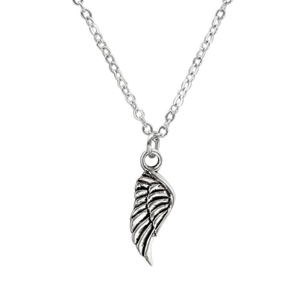 Silver Angel Wing Charm Necklace made by O Yeah Gifts!