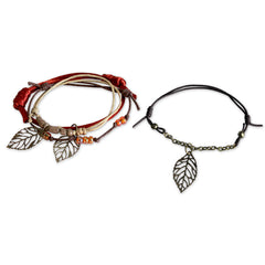 Autumn Leaves Bracelet - 4 Piece Set