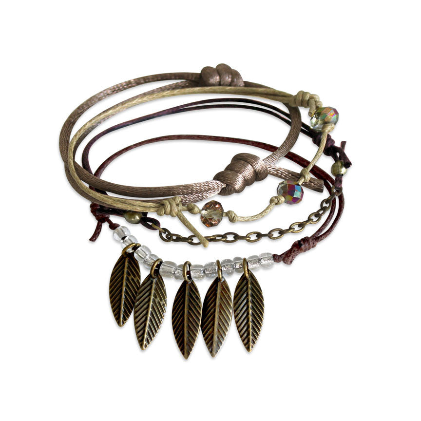 Leaves Bracelet 4 piece set