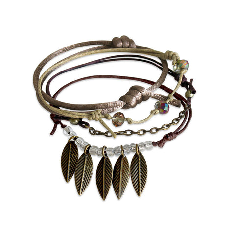 Leaves Bracelets - 4 Piece Set - O YEAH GIFTS