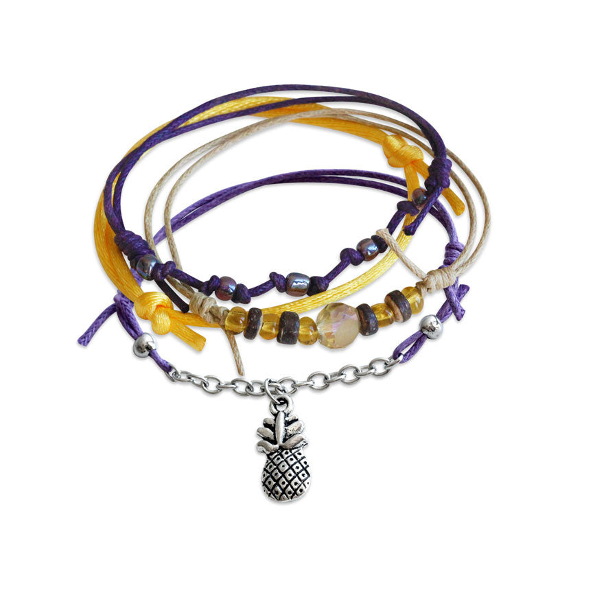 Pineapple Bracelets - 4 Piece Set - O YEAH GIFTS