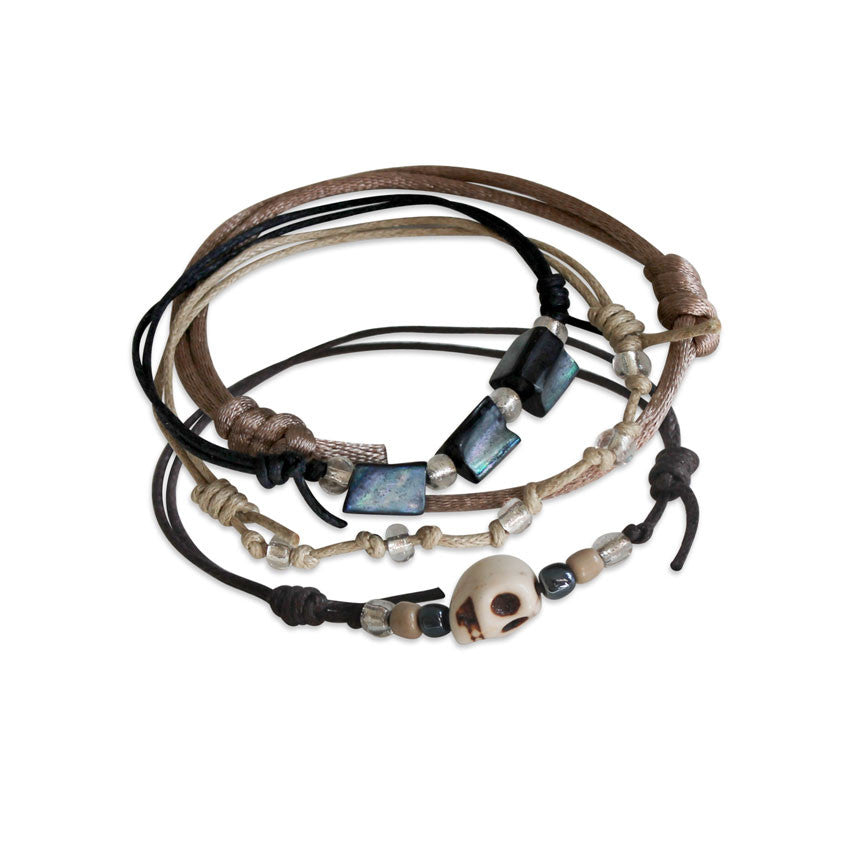 Pirate Skull Bracelets - 4 Piece Set | O Yeah Gifts!
