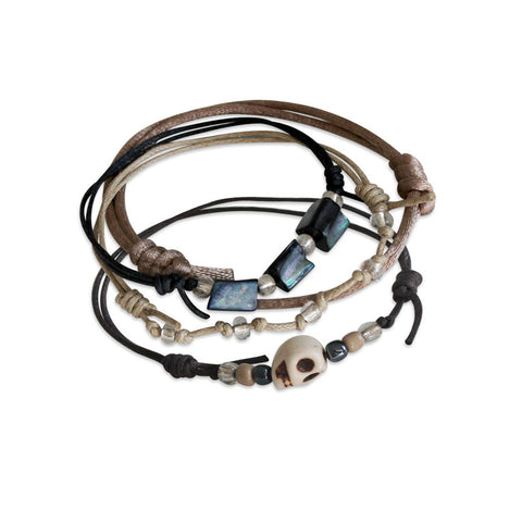 Pirate Skull Bracelets - 4 Piece Set