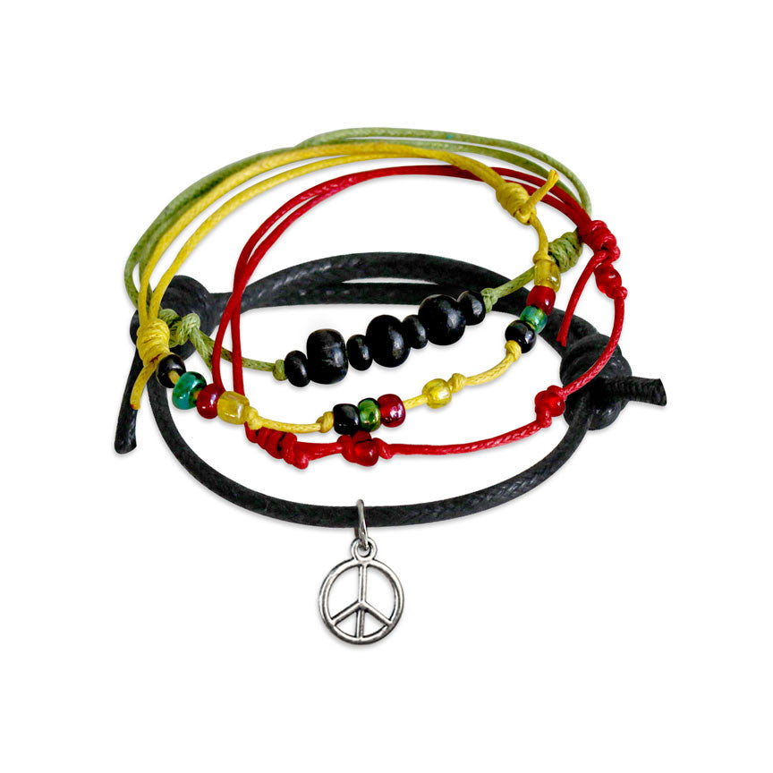 Peace Bracelets - 4 Piece Set | O Yeah Gifts!