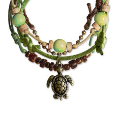 Sea Turtle Bracelets - 4 Piece Set