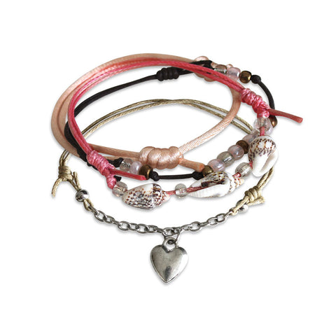 Seaside Heart Bracelets - 4 Piece Set - O YEAH GIFTS