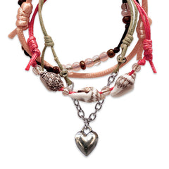 Seaside Heart Bracelets - 4 Piece Set - O Yeah Gifts!