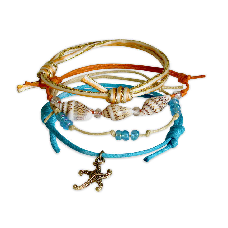 Starfish Bracelets - 4 Piece Set