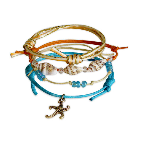 Starfish Bracelets - 4 Piece Set - O YEAH GIFTS