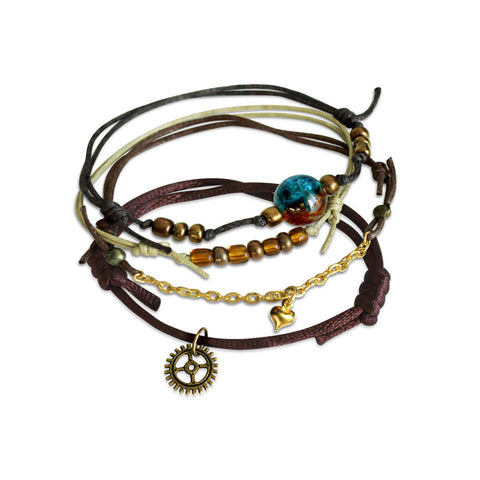 Steampunk Bracelets - 4 Piece Set - O YEAH GIFTS