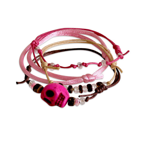 Sugar Skull Bracelets - 4 Piece Set