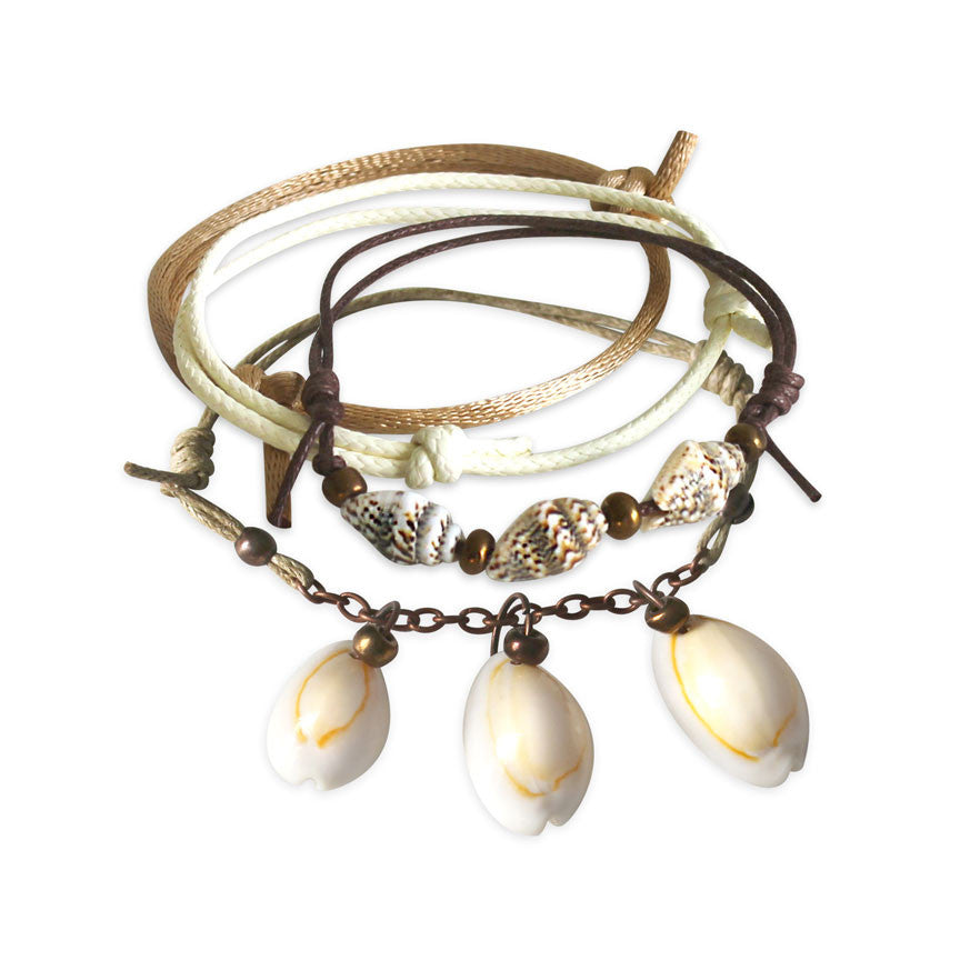 Summer Shells Bracelets - 4 Piece Set - O Yeah Gifts!