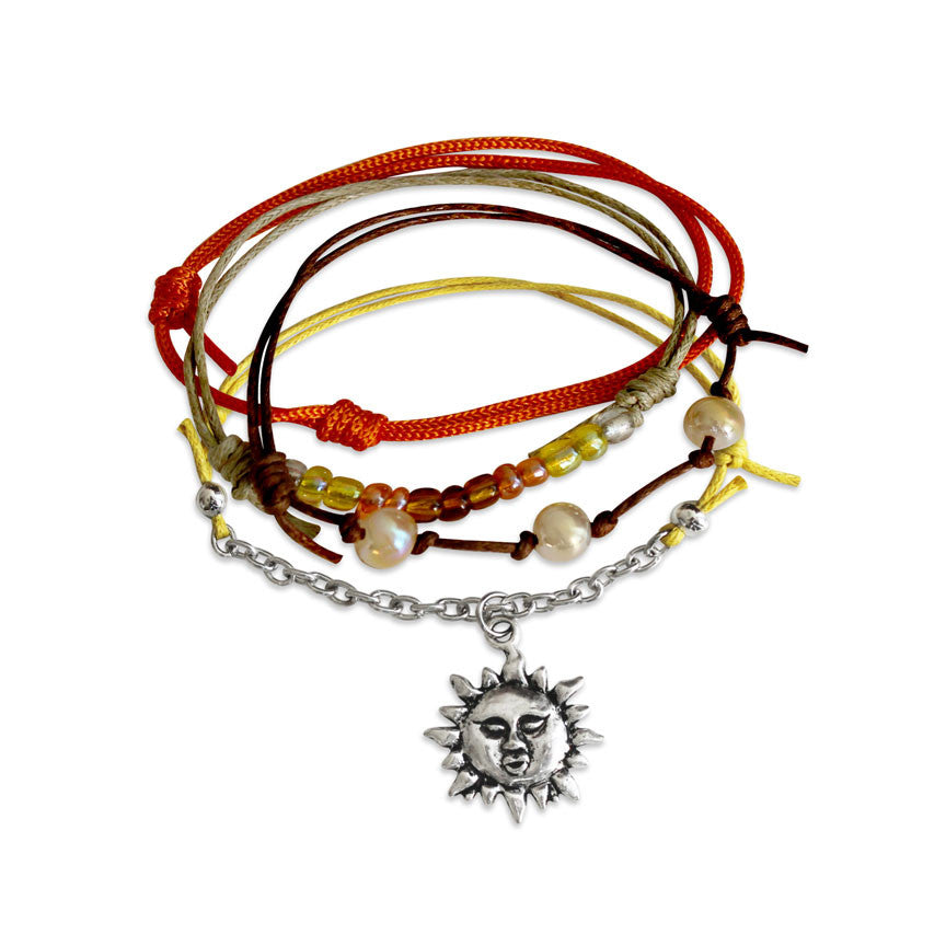 Sunshine Bracelets - 4 Piece Set | O Yeah Gifts!