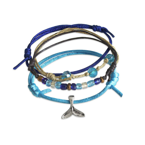 Whale Tail Bracelets - 4 Piece Set - O YEAH GIFTS