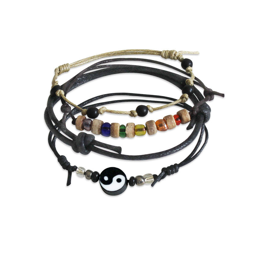Friendship Bracelet Ying /& Yang with charm