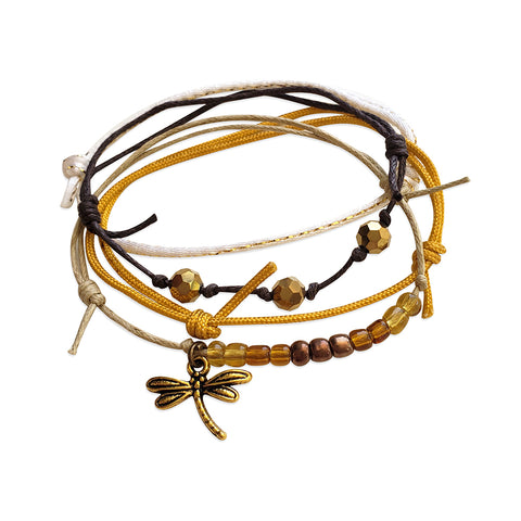 Dragonfly Bracelets - 4 Piece Set - O YEAH GIFTS
