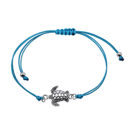 Sea Turtle Bracelet - Aqua Blue | O Yeah Gifts!
