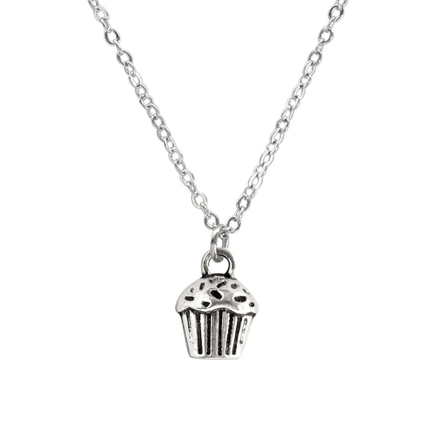Close up of a cupcake charm