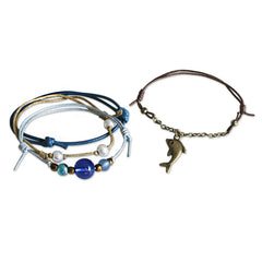 Detail image of Dolphin Charm bracelet seperated from bracelet set