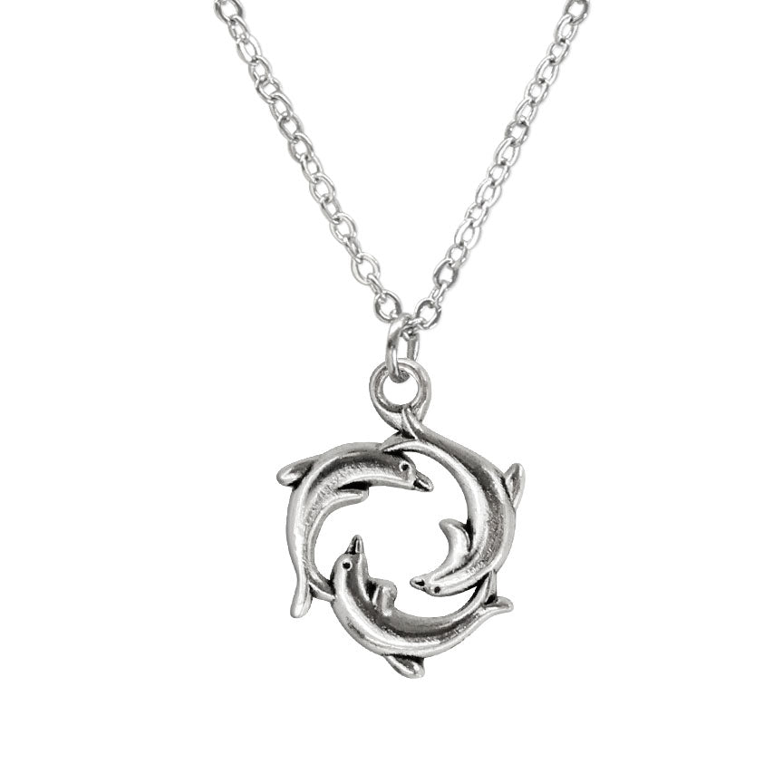 Dolphin Ring Necklace