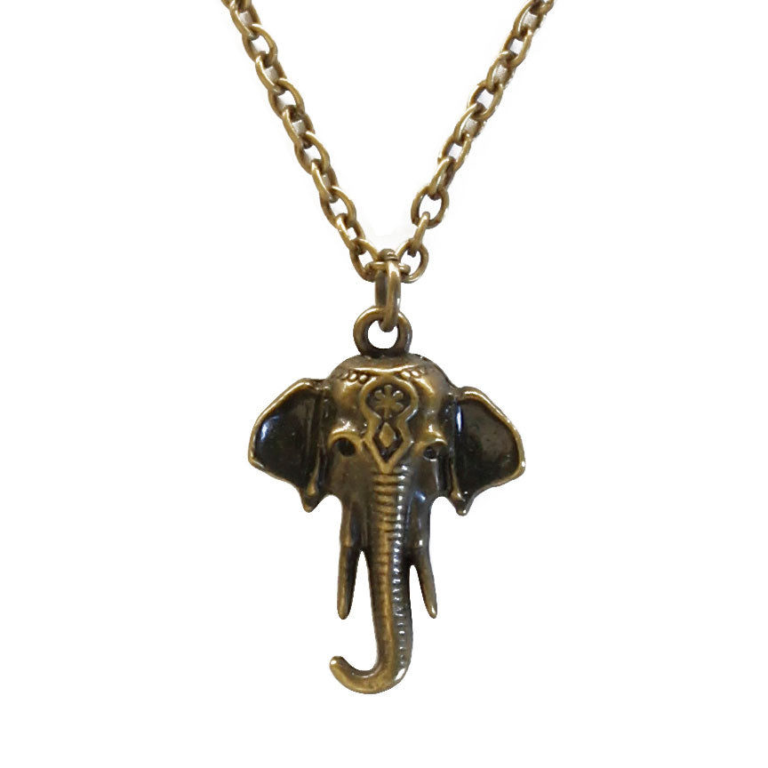Close up of Elephant Pendant Necklace