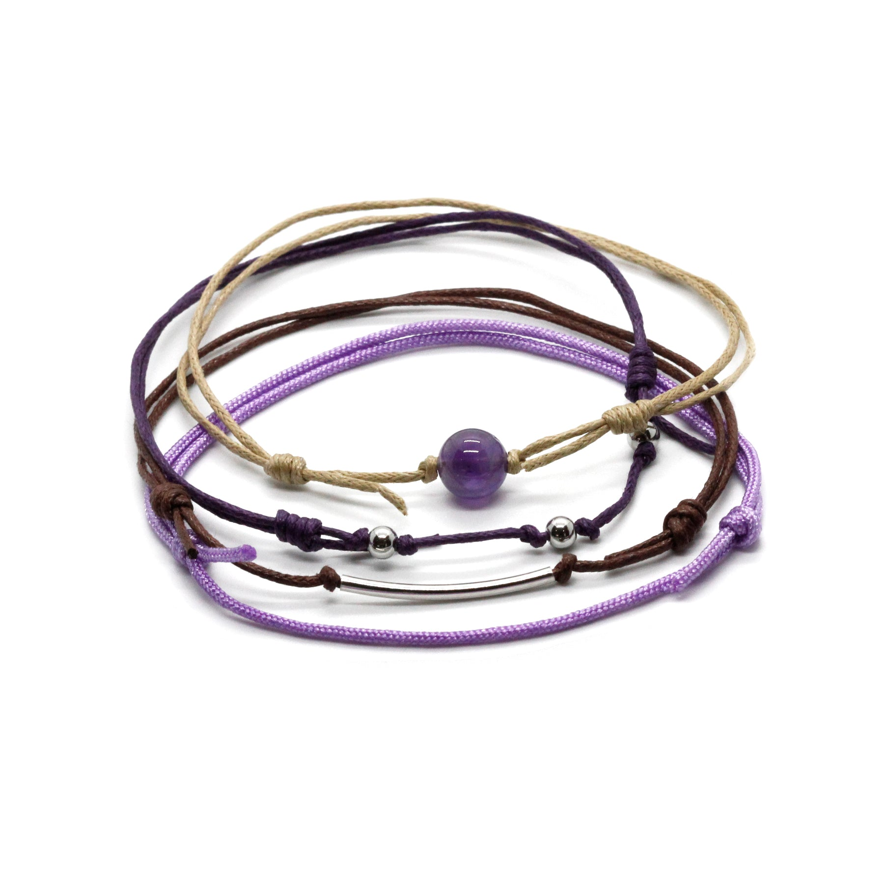 Amethyst Gemstone Anklet - 4 Piece Set - O YEAH GIFTS