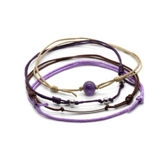 Gemstone Ankle Bracelet with Amethyst Stone