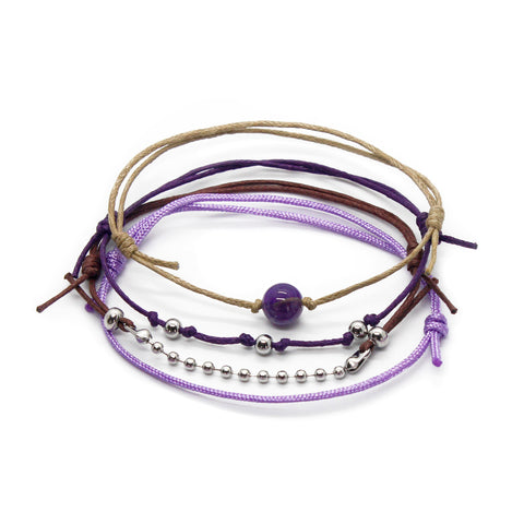 Amethyst Gemstone Bracelet - 4 Piece Set - O YEAH GIFTS