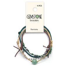 Aventurine Gemstone Bracelet - 4 Piece Set