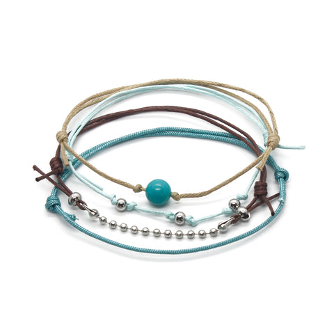 Turquoise Gemstone Bracelet - 4 Piece Set - O YEAH GIFTS