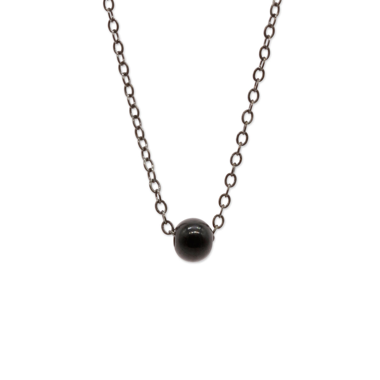 Gunmetal Bead Necklace - O Yeah Gifts!
