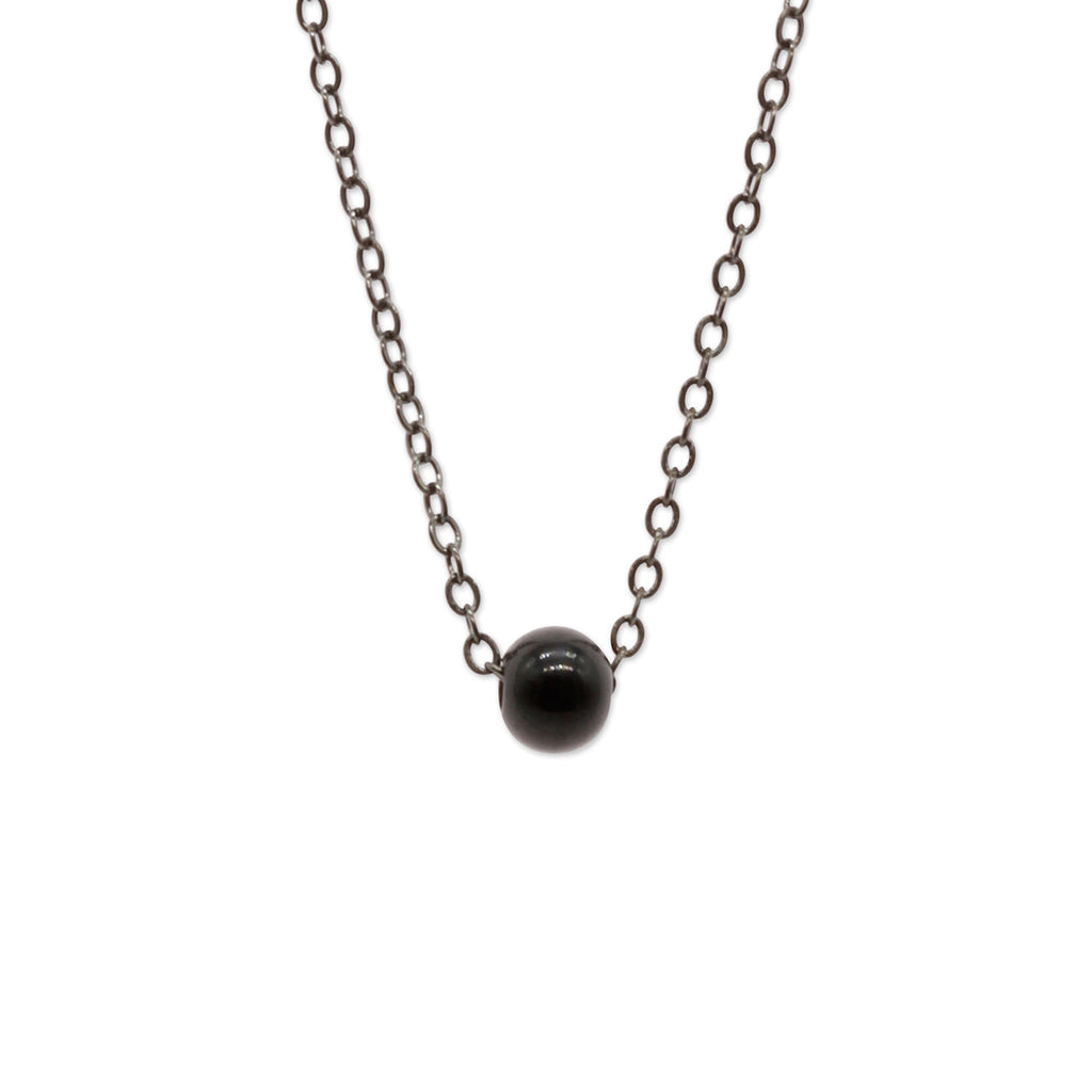 Gunmetal Bead Necklace | O Yeah Gifts!