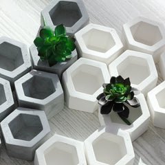 Hexagon Holders are handmade pottery pieces used as a planter for succulents or air plants. Hexagon Holders are the perfect size for tea light candles. Pottery is made in the USA by O Yeah Gifts!