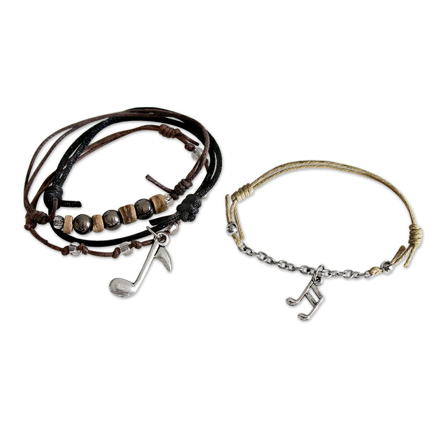Music Notes Bracelets - 4 Piece Set | O Yeah Gifts!