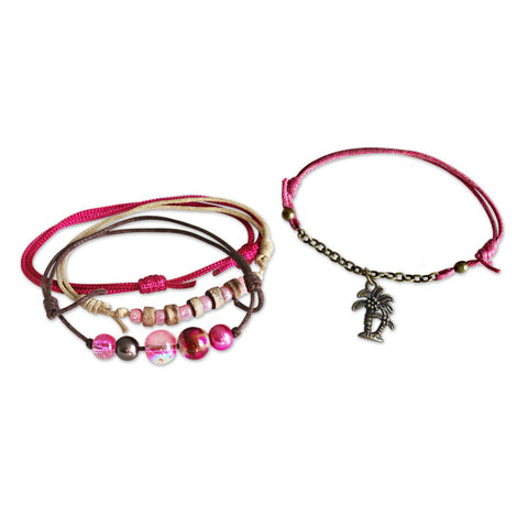 Palm Tree Bracelets - 4 Piece Set - O YEAH GIFTS