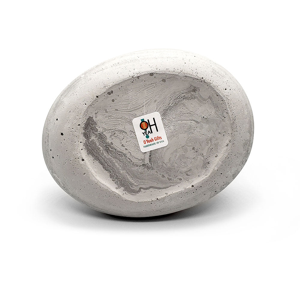 Made in the USA, Rock Candle Holders are available at O Yeah Gifts! All sustainable materials are used. Even our brand stickers are organic; created from stone!