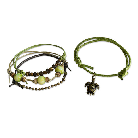 Sea Turtle Bracelets - 4 Piece Set - O YEAH GIFTS
