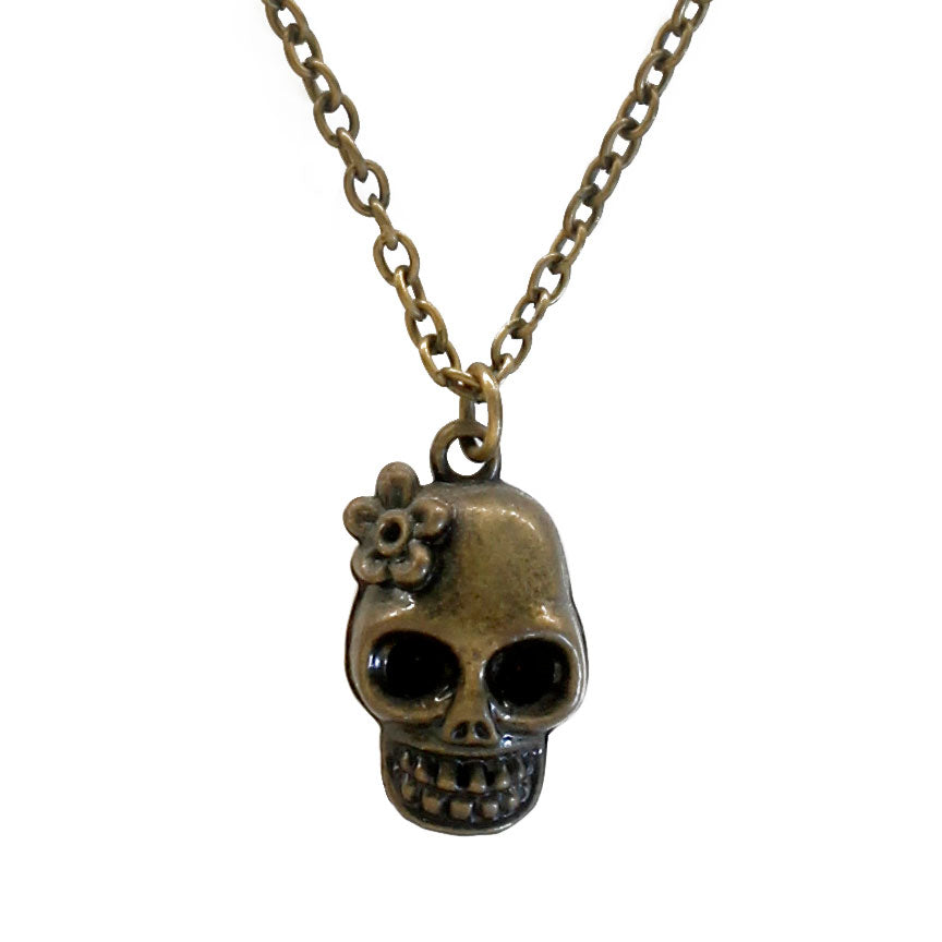 Sugar Skull Charm Necklace - O Yeah Gifts!