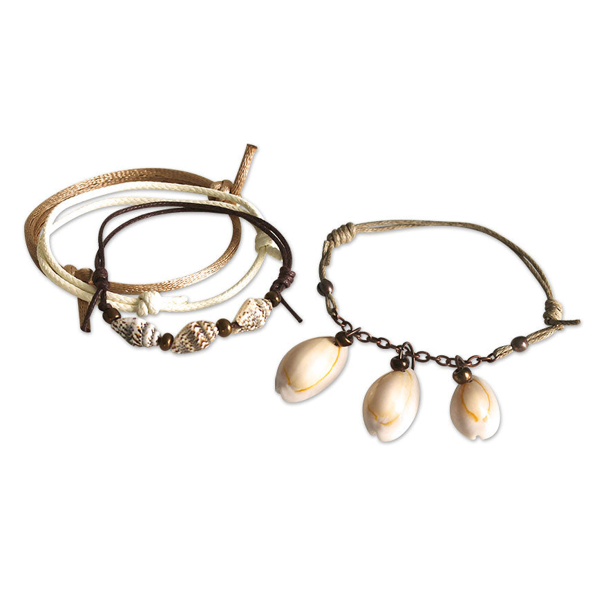Summer Shells Bracelets - 4 Piece Set | O Yeah Gifts!