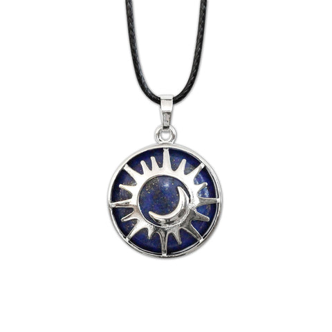 Sun & Moon Gemstone Necklace - Lazuli - O YEAH GIFTS