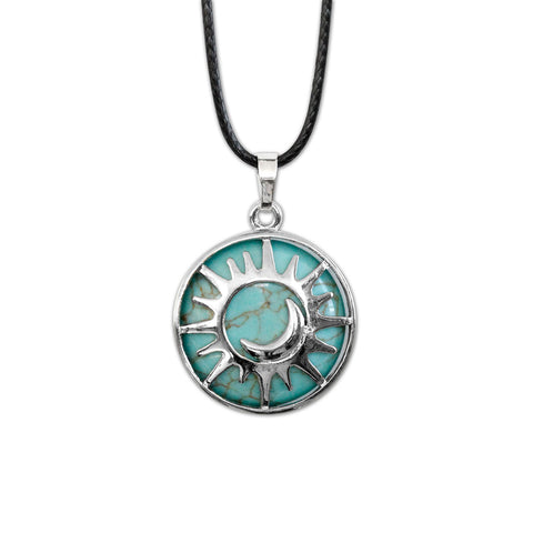 Sun & Moon Gemstone Necklace - Turquoise | O Yeah Gifts!