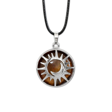 Sun & Moon Gemstone Necklace - Tiger Eye | O Yeah Gifts!