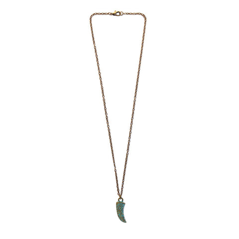 Tribal Tooth patina bronze pendant on 16 inch chain necklace by O Yeah Gifts!