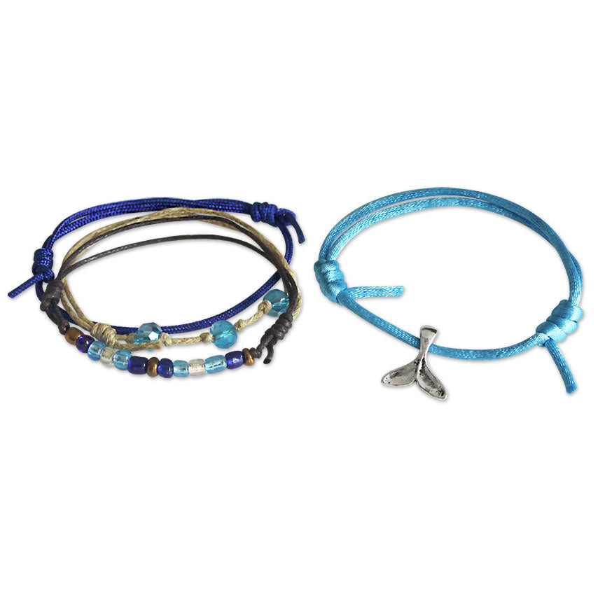 Whale Tail Bracelets - 4 Piece Set | O Yeah Gifts!