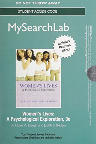 MySearchLab with Pearson eText  -- Standalone Access Card -- for Women's Lives: A Psychological Exploration (3rd Edition) (MySearchLab (Access Codes))