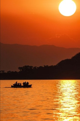 Lake Malawi Sunset Journal: 150 page lined notebook/diary