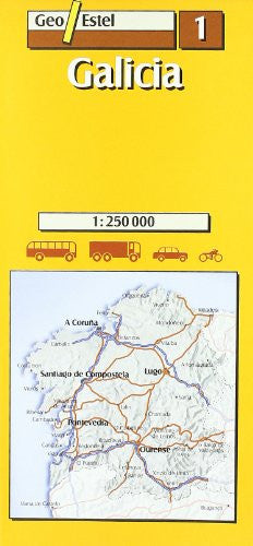 01: Galicia Road Map 1:250, 000 (Main Routes)